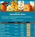 Fall Pumpkins sign up sheet