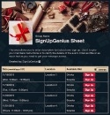 Holiday Gift Wrapping sign up sheet