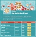 Snowflakes sign up sheet