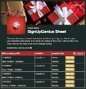 Holiday Gifts 3 sign up sheet