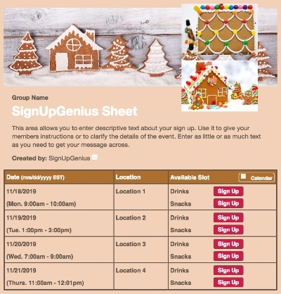 gingerbread houses christmas cookies holidays sign up form