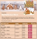 Gingerbread Houses sign up sheet