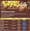 Hanukkah Celebration sign up sheet