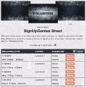 Holiday Volunteering sign up sheet